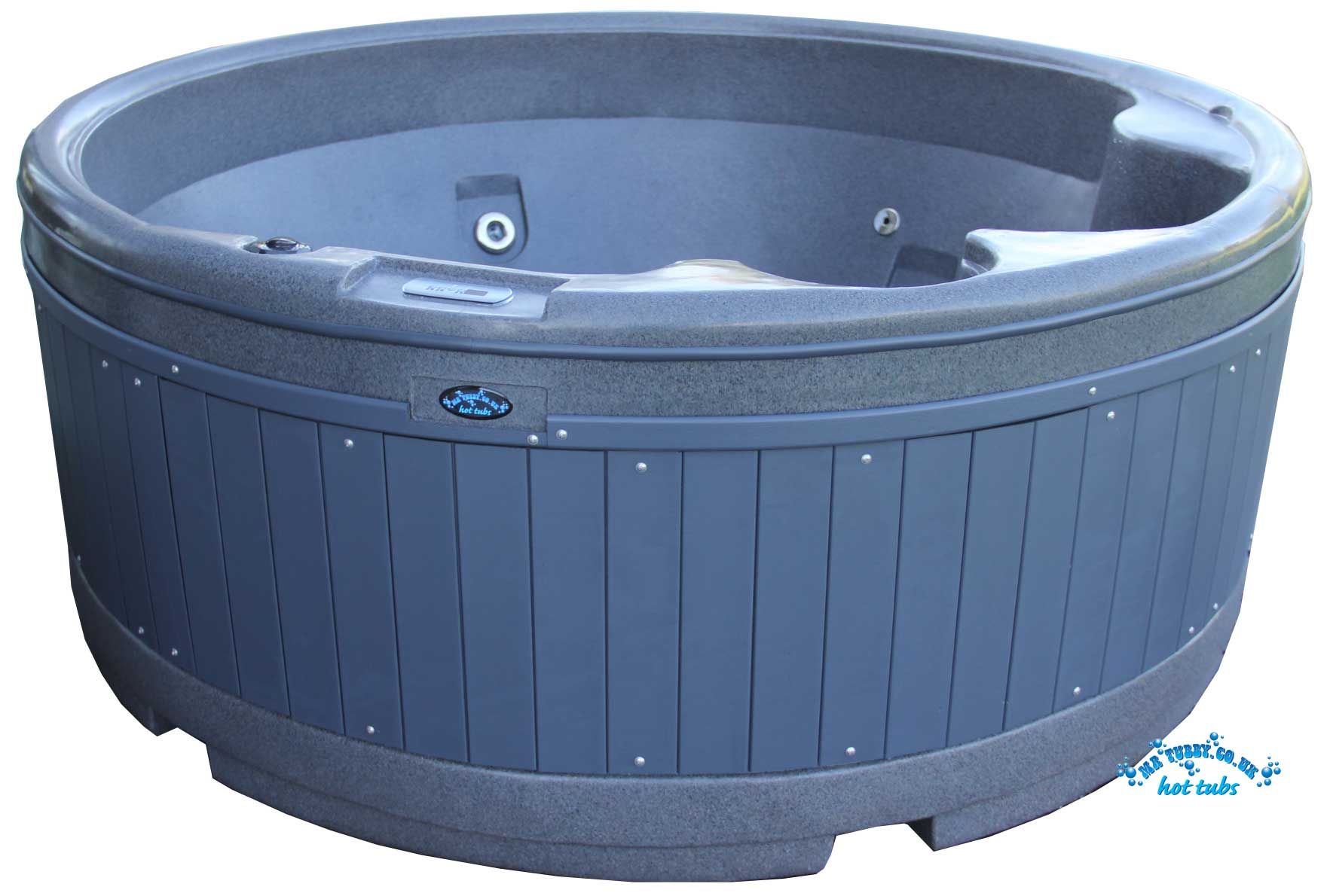 Mr Tubby Fun Tub SPA - Plug & Play 4 Seater 1.8m Round Mood lighting